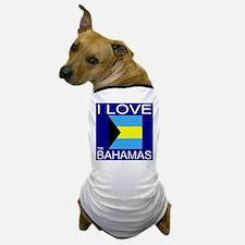 I Love The Bahamas Dog T-Shirt