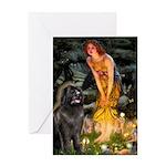 Fairies & Newfoundland Greeting Card