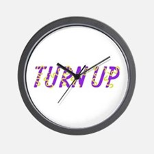 Turn Up Wall Clock