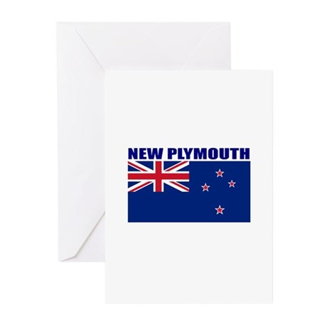 New Plymouth, New Zealand Greeting Cards (Pk of 10