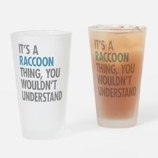 Raccoon Thing Drinking Glass