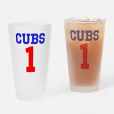 CUBS #1 Drinking Glass