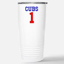 CUBS #1 Stainless Steel Travel Mug