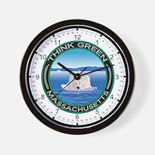 Environmental Polar Bear Massachusetts Wall Clock