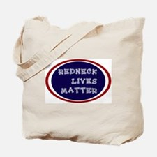 Redneck White and Blue Tote Bag