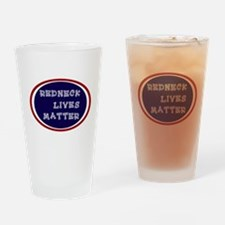 Redneck White and Blue Drinking Glass