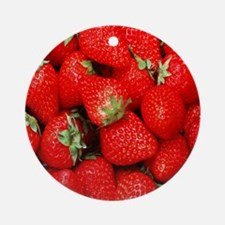Strawberry Flip Round Ornament