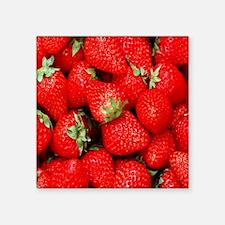 "Strawberry Flip Square Sticker 3"" x 3"""