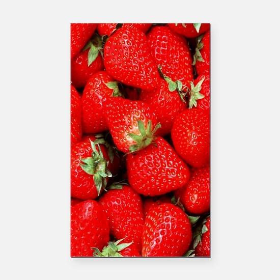 Strawberry Flip Rectangle Car Magnet