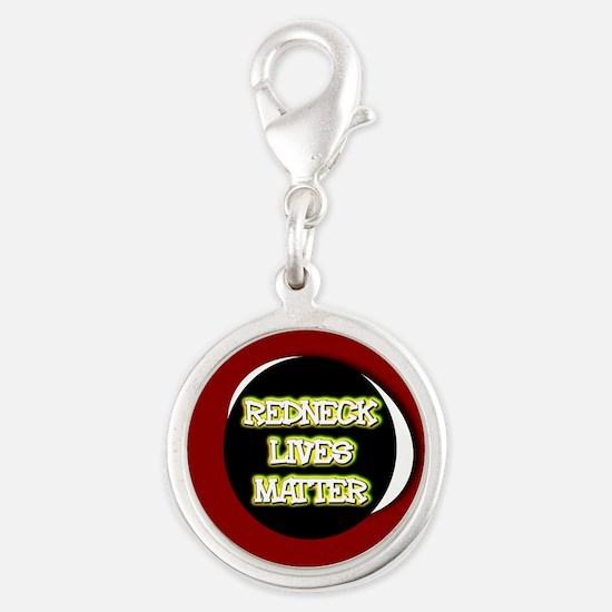 Neon Redneck Lives Matter Black Round Charms