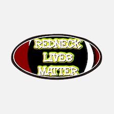 Neon Redneck Lives Matter Black Round Patch