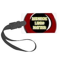 Neon Redneck Lives Matter Black Luggage Tag