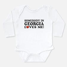Funny I love georgia Long Sleeve Infant Bodysuit