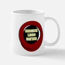 Neon Redneck Lives Matter Black Round Mugs