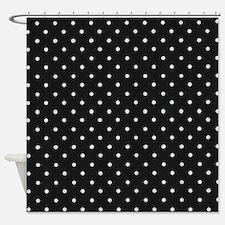 polka dot shower curtains polka dot fabric shower curtain liner. Black Bedroom Furniture Sets. Home Design Ideas