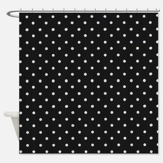 Black and White Polka Shower Curtain