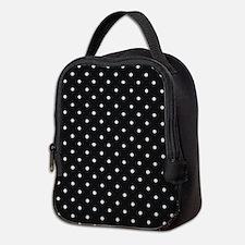 Black and White Polka Neoprene Lunch Bag