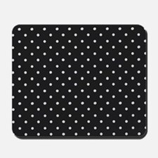 Black and White Polka Mousepad