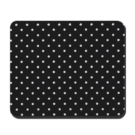 Black And White Polka Mousepad