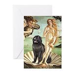 Venus & Newfoundland Greeting Cards (Pk of 20)