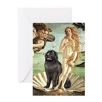 Venus & Newfoundland Greeting Card