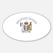 Milford Sound, New Zealand Oval Decal