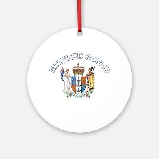 Milford Sound, New Zealand Ornament (Round)