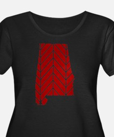 Alabama Chevron Plus Size T-Shirt