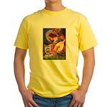 Mandolin Angel / Yorkie (17) Yellow T-Shirt