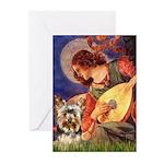 Mandolin Angel / Yorkie (17) Greeting Cards (Pk of
