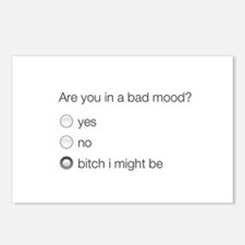 Are you in a bad mood ? Postcards (Package of 8)