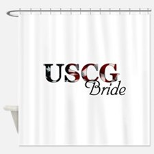 Bride USCG_flag .png Shower Curtain