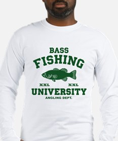 Funny Bass Fishing Long Sleeve T-Shirt