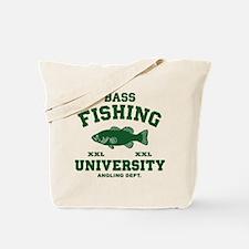 Funny Bass Fishing Tote Bag