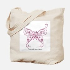 Lupus Awareness Butterfly Tote Bag