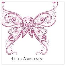 Lupus Awareness Butterfly Poster
