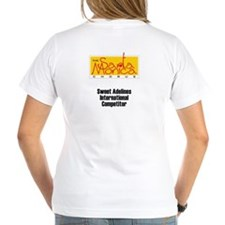 Women's V-Neck T-Shirt Jezz/ Smc Logo Back