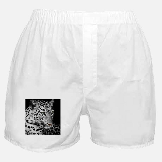 White Leopard Boxer Shorts