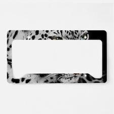 White Leopard License Plate Holder