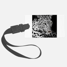 White Leopard Luggage Tag