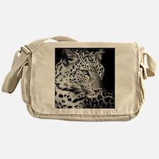 White Leopard Messenger Bag