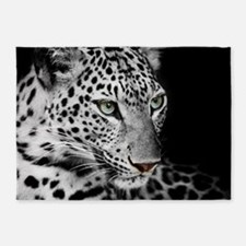 White Leopard 5'x7'Area Rug