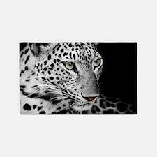 White Leopard Area Rug