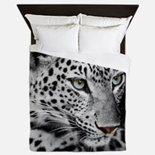 White Leopard Queen Duvet