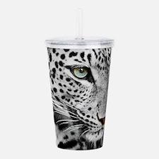 White Leopard Acrylic Double-wall Tumbler
