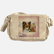 Dog 123 Papillon Messenger Bag