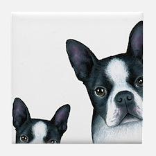 Dog 128 Boston Terrier Tile Coaster