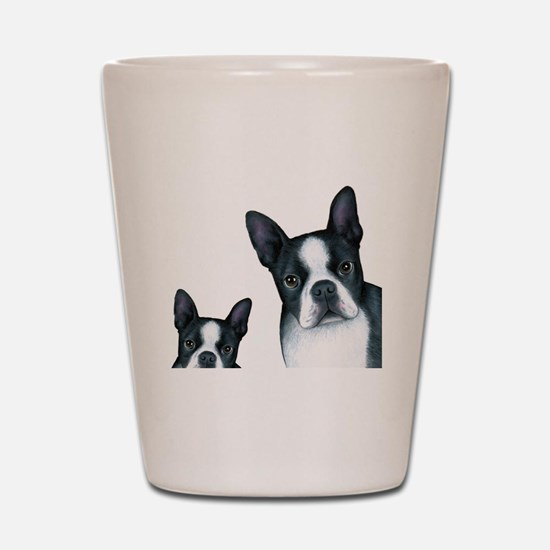 Dog 128 Boston Terrier Shot Glass
