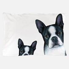 Dog 128 Boston Terrier Pillow Case