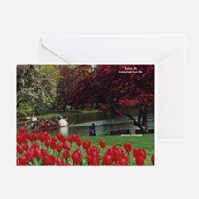 Swan Boats in Spring - Greeting Cards (Pk of 20)